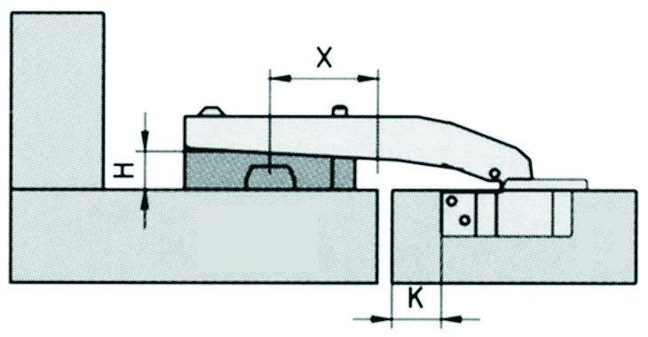 V wax Boitier relevant pour double porte de meuble cuisine